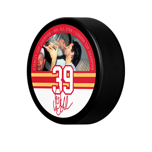 Gilmour Calgary Stanley Cup Puck