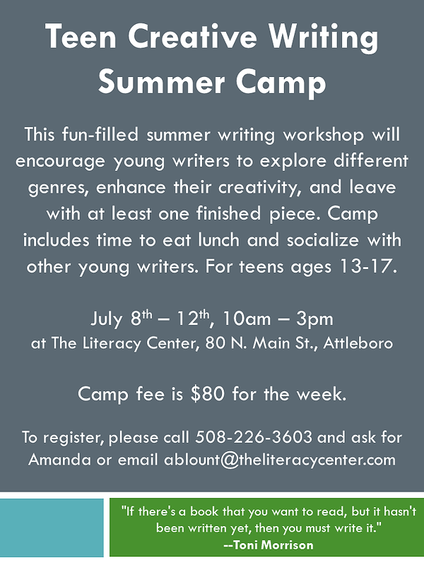 Summer Writing Camp for Teens flyer.png