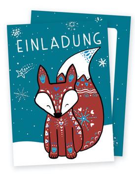 Geburtstagseinladung Fuchs