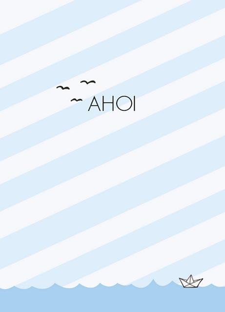 Postkarte AHOI