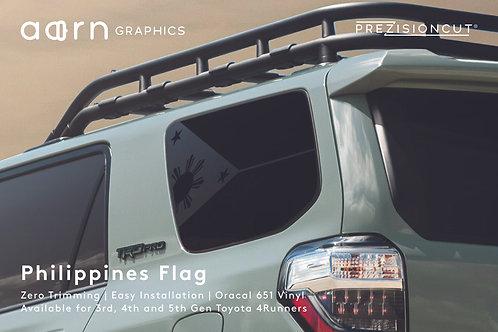 Philippines Flag PrezisionCut® Toyota 4Runner Vinyl Window Decal