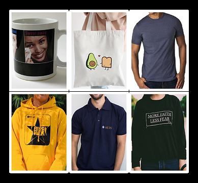 Bolsos, camisetas, tazas, sudaderas y mas cosas