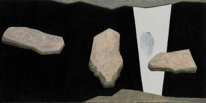 ALLEN HICKS Rock Rinse I 2016 acrylic on canvas 31 x 61cm $450