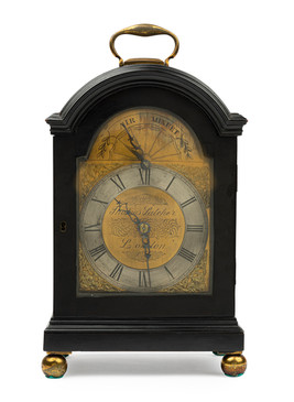 A two train English musical bracket clock by Thomas Satcher, London, circa 1790