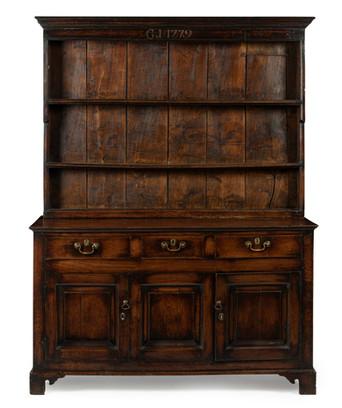 A George III oak Welsh dresser, dated 1779