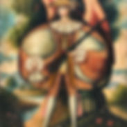 Portrait of a winged figure in a Classic