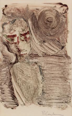 CHARLES BLACKMAN (1928-2018) Figure Study, 1951 monotype signed lower right: Blackman 28 x 18cm