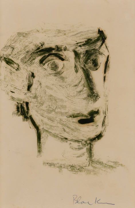 CHARLES BLACKMAN (1928-2018) Head Study, 1951 monotype signed lower right: Blackman 26.5 x 17.5cm