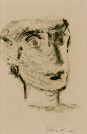 CHARLES BLACKMAN (1928-2018) Head Study, 1951 monotype signed lower right: Blackman 26.5 x 17.5cm