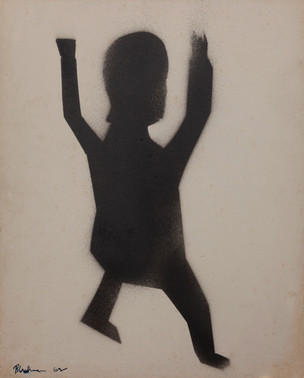 CHARLES BLACKMAN (1928-2018) Child Away, 1962 sprayed ink on paper signed and dated lower left: Blackman 62 31 x 25cm