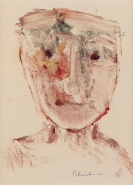 CHARLES BLACKMAN (1928-2018) Head Study, 1951 monotype signed lower right: Blackman 26.5 x 19.5cm