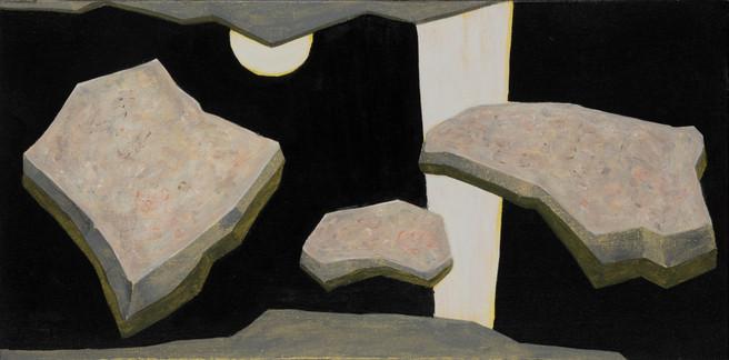 ALLEN HICKS Rock Rinse II 2016 acrylic on canvas 31 x 61cm $450