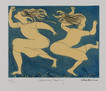 CHARLES BLACKMAN (1928-2018) Genevieve Dancing etching editioned, titled and signed lower left, centre and right on margin: AP / Genevieve Dancing / Blackman 19.5 x 25cm