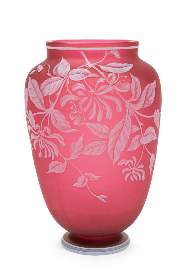 A Thomas Webb & Sons cameo glass vase circa 1890 - 1900