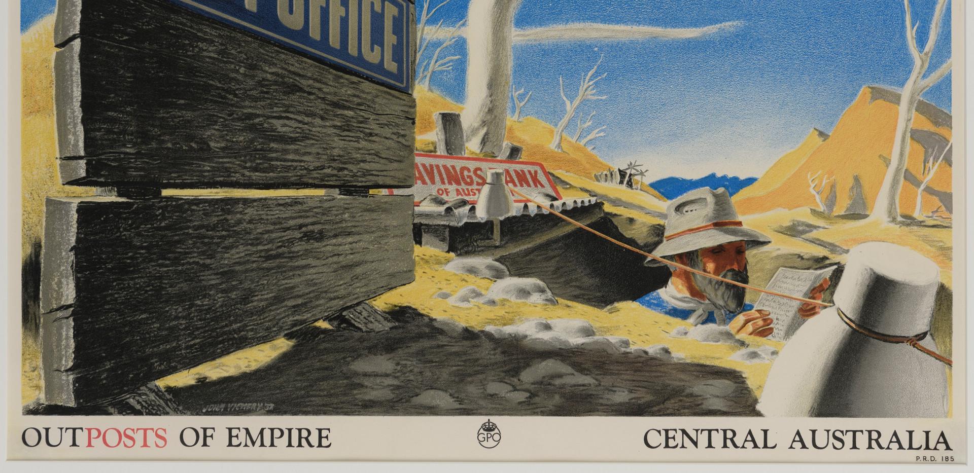 JOHN VICKERY (1906-1983) Outposts of Empire, Central Australia 1937