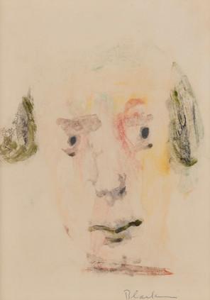 CHARLES BLACKMAN (1928-2018) Head Study, 1951 monotype signed lower right: Blackman 27.5 x 19.5cm