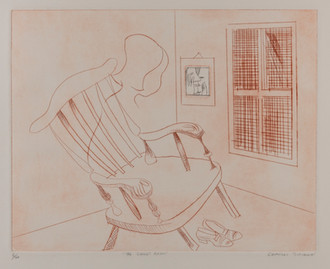 CHARLES BLACKMAN (1928-2018) The Child's Room drypoint editioned, titled and signed lower left, centre and right on margin: 9/20 THE CHILD'S ROOM CHARLES BLACKMAN 40 x 50cm