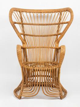 A rattan wickerworkchair by Gio Ponti for Vittoro Bonacina & Co., Italian 1950's