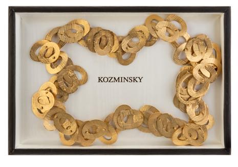 Lot 120: A MODERNIST GOLD NECKLACE