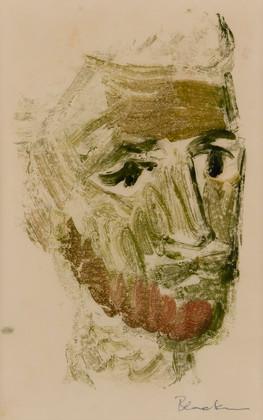 CHARLES BLACKMAN (1928-2018) Head Study, 1951 monotype signed lower right: Blackman 27.5 x 17.5cm