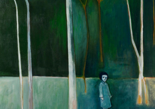 ROBERT DICKERSON (1924-2015) Young Girl in Bush