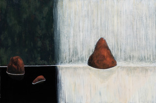 ALLEN HICKS Restful Falls I, Restful Falls II (pair) 2020 acrylic on canvas 31 x 61cm (each); 31 x 122cm (pair) SOLD