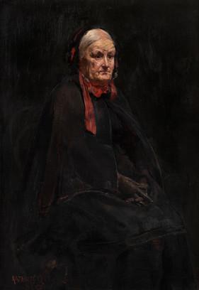 ARTHUR JOSE DE SOUZA LOUREIRO (PORTUGUESE, 1853-1932) The Grandmother,1889