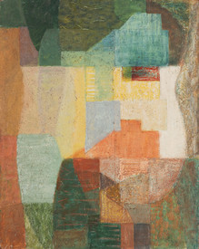 JOHN (JACK) COURIER (1915-2007) Abstract Landscape oil on board titled and signed verso: Abstract Landscape JACK COURIER 51 x 40.5cm