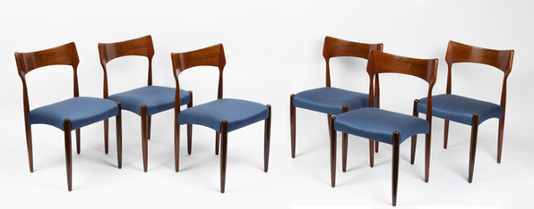 A set of six rosewood dining chairs by Pederson & Sons, mid 20th century