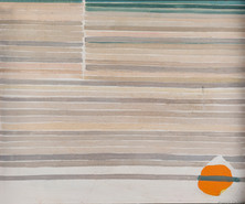 MARY (MCLEISH) COURIER (1911-1969) Untitled (Abstract Horizon) 1970 oil on board signed and dated to lower right: Mary E. McLeish70 49 x 59cm