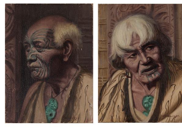 VERA CUMMINGS (NEW ZEALAND1891-1949) Maori Elders