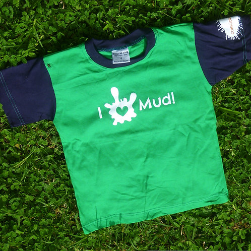 Conscious Kids Tee - Green and Navy Blue