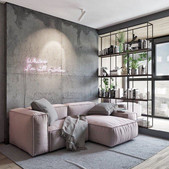 How To Decorate A Grey and Blush Pink Living Room.jfif