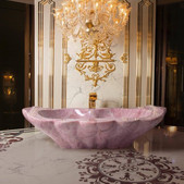 Baldi Firenze 1867 Bathroom Fixture - Rose Hand-Carved Bathtub Italy Italian Other Rose Qu