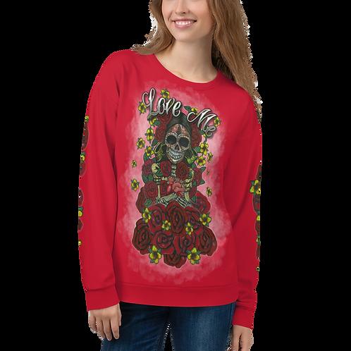 Love Me Women Red Sweatshirt