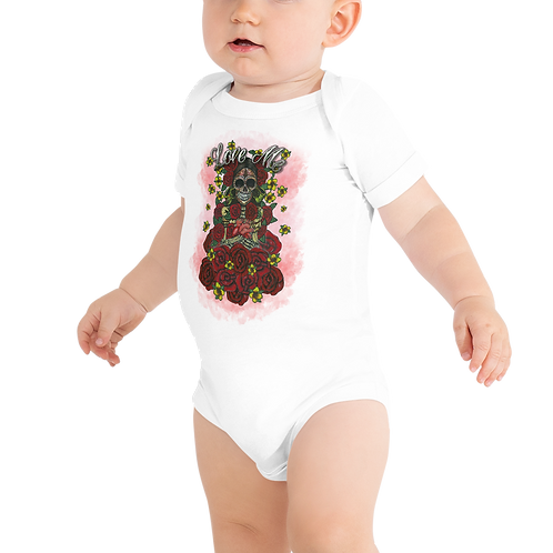 Love Me White Baby Short Sleeve One Piece