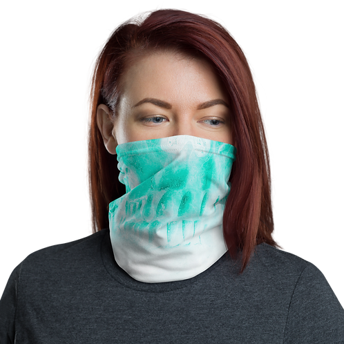 Girly Turquoise Skull Neck Gaiter