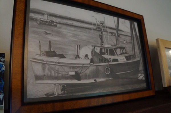 Drawing of a boat