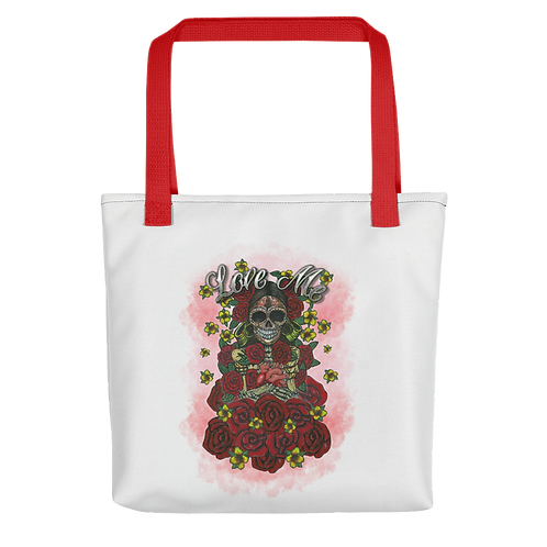 Love Me White Tote Bag
