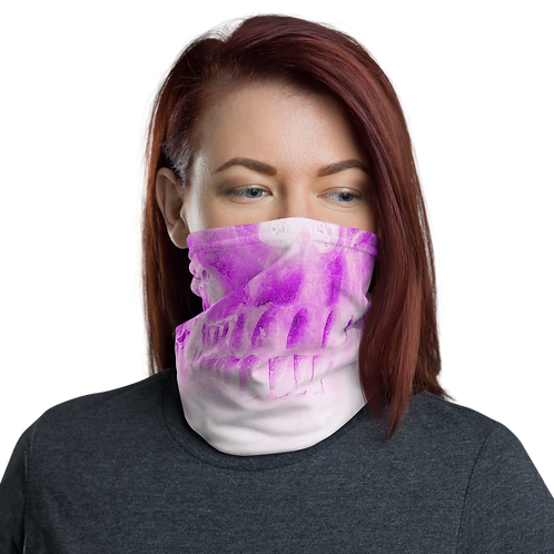 Girly Pink Skull Neck Gaiter