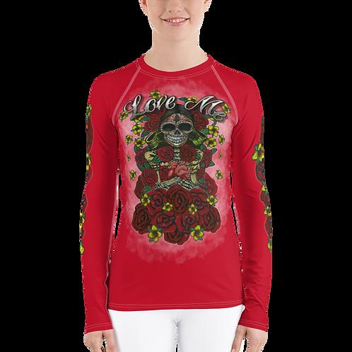 Love Me Women Red Long Sleeve Shirt