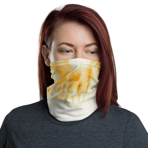 Girly Yellow Skull Neck Gaiter