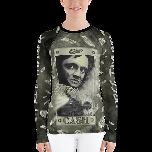 Johnny Cash Women Long Sleeve Shirt