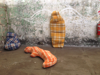 Comfort Zone as part of Found Festival, Magdelan quarters, Abbotsford Convent 2014.  Dimensions variable