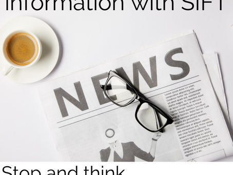 Help students to evaluate information online with SIFT
