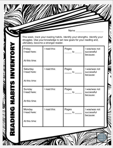 Click on the image below to download this free Reading Habits Inventory!