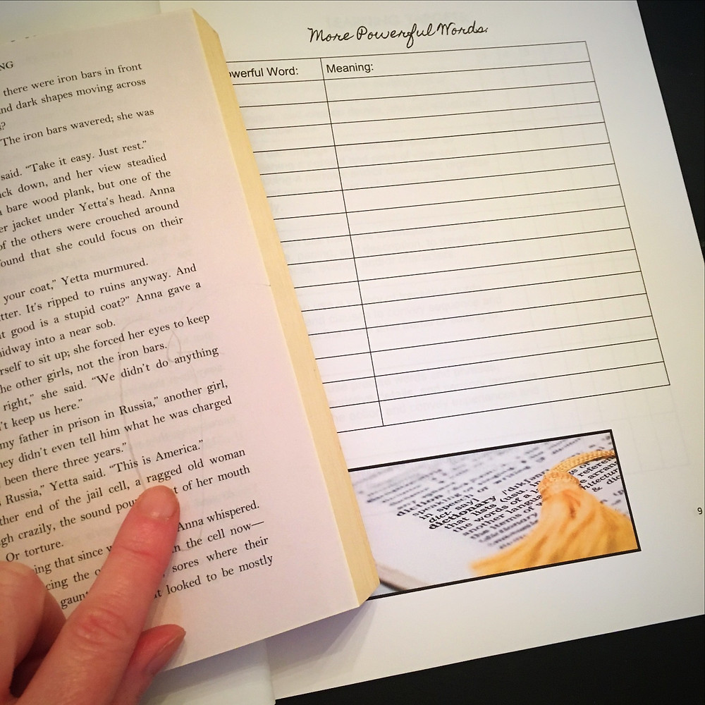 Students build vocabulary by noticing the powerful language their authors use.