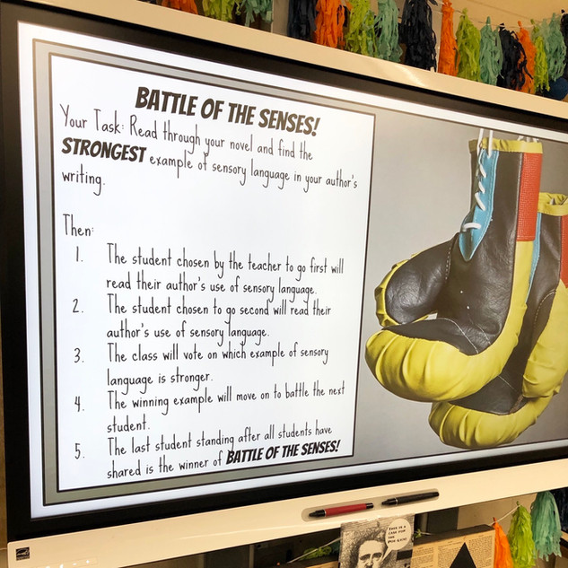 Battle of the Senses Lesson