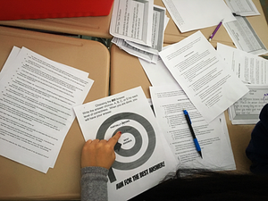 Clues helped students practice meaningful multiple choice strategies.