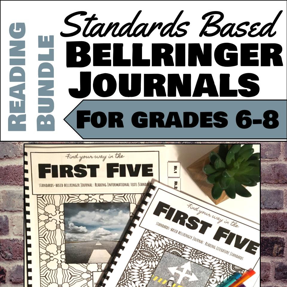 Standards Based Bellringer Journals for Grades 6-8 ELA